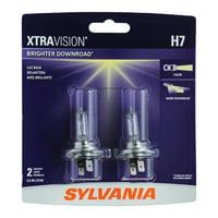 Sylvania H7 XtraVision Halogen Headlight Bulb, Pack of 2.