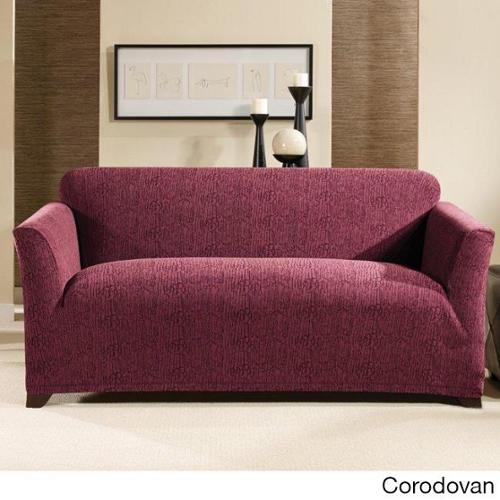 Sure Fit Stretch Galaxy Loveseat Slipcover Cordovan