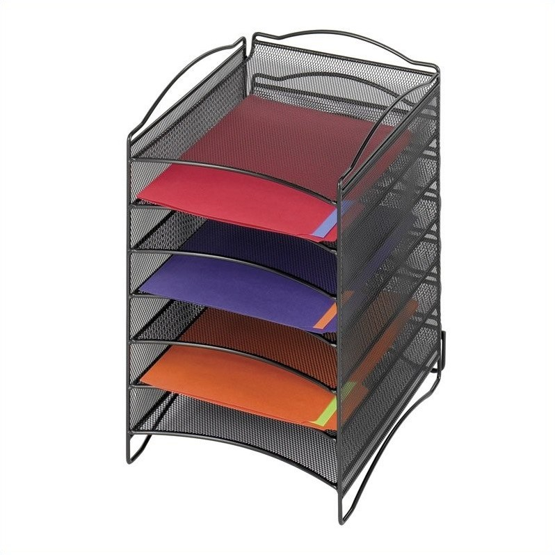 Scranton & Co 6 Compartment Mesh Literature Organizer