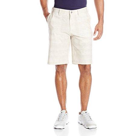 in stock 046da 94f9e adidas Golf Men's Puremotion Stretch Graphic Shorts, Ecru, 30-Inch