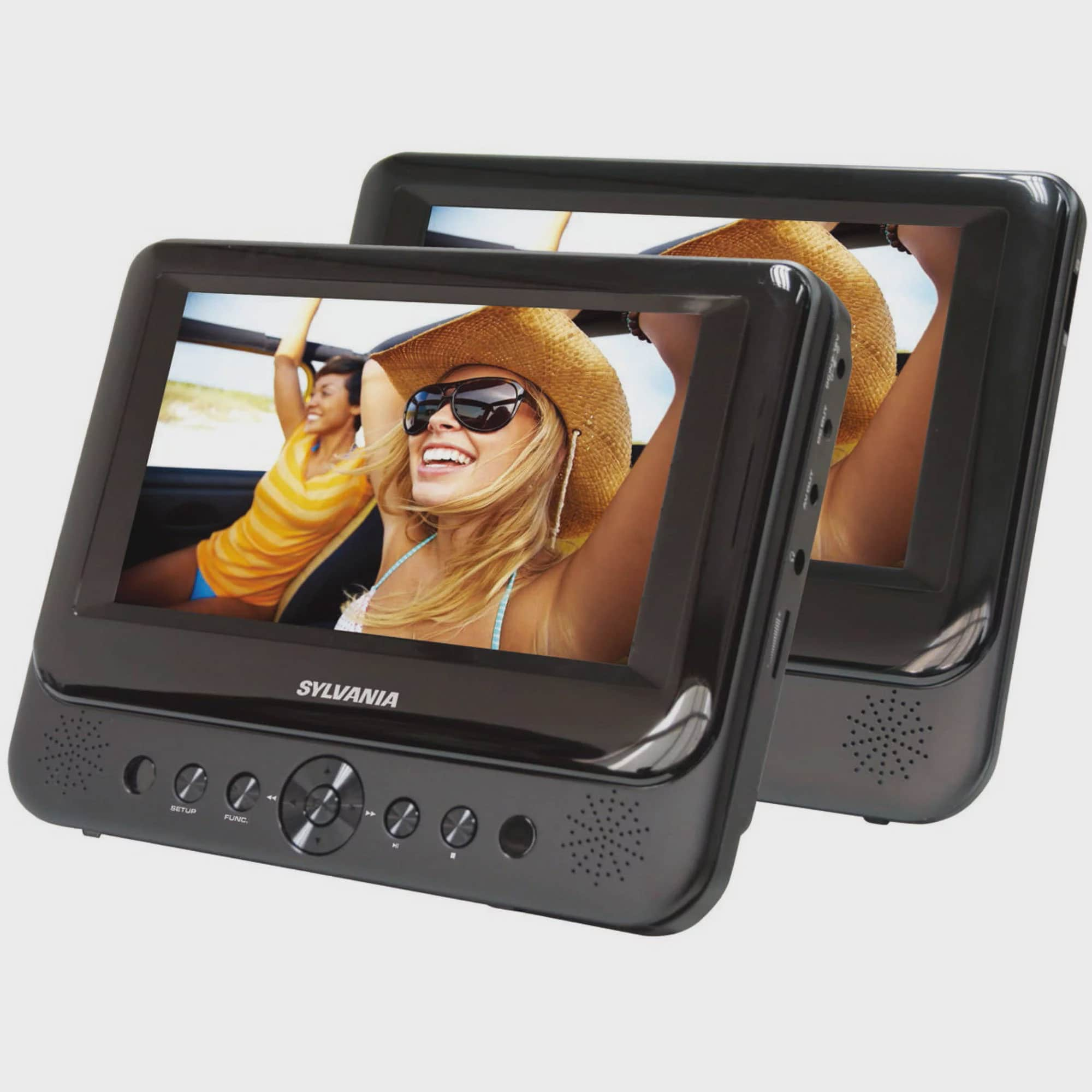 headrest tv car dvd player for car seat portable cd dual. Black Bedroom Furniture Sets. Home Design Ideas