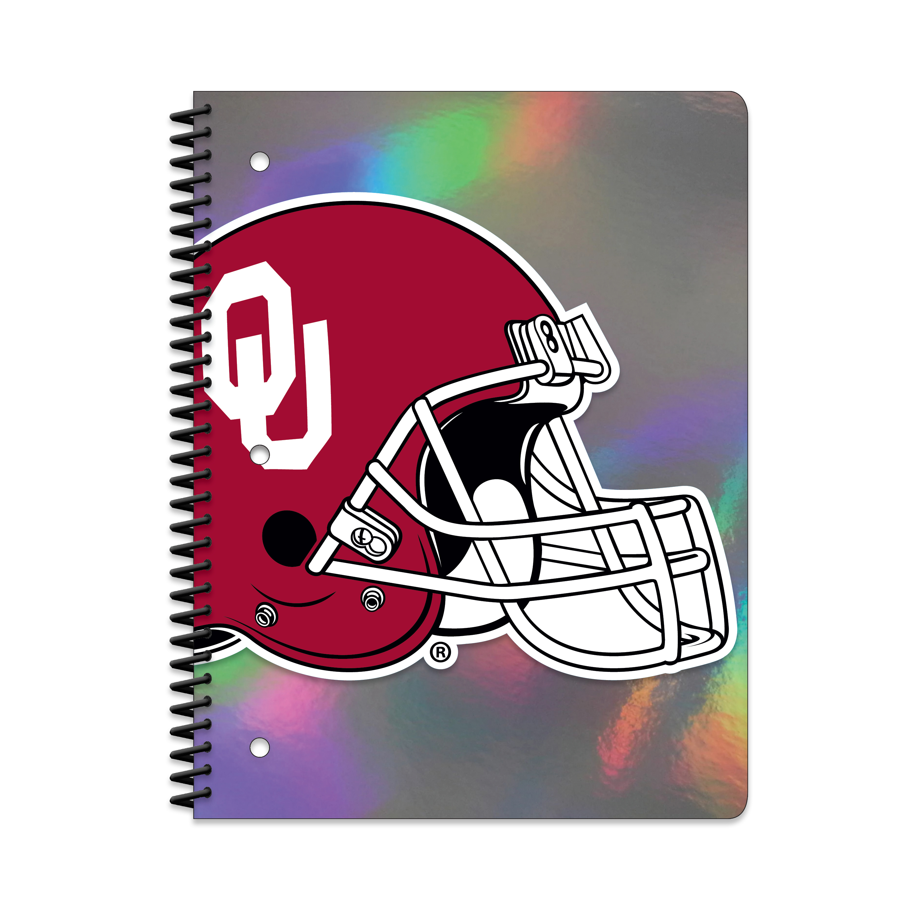 OK SOONERS HOLOGRAPHIC 1-SUBJECT NOTEBOOK
