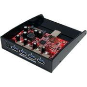 """StarTech 35BAYUSB3S4 3.5"""" Front Bay to 4-Port USB 3.0 Panel Hub"""
