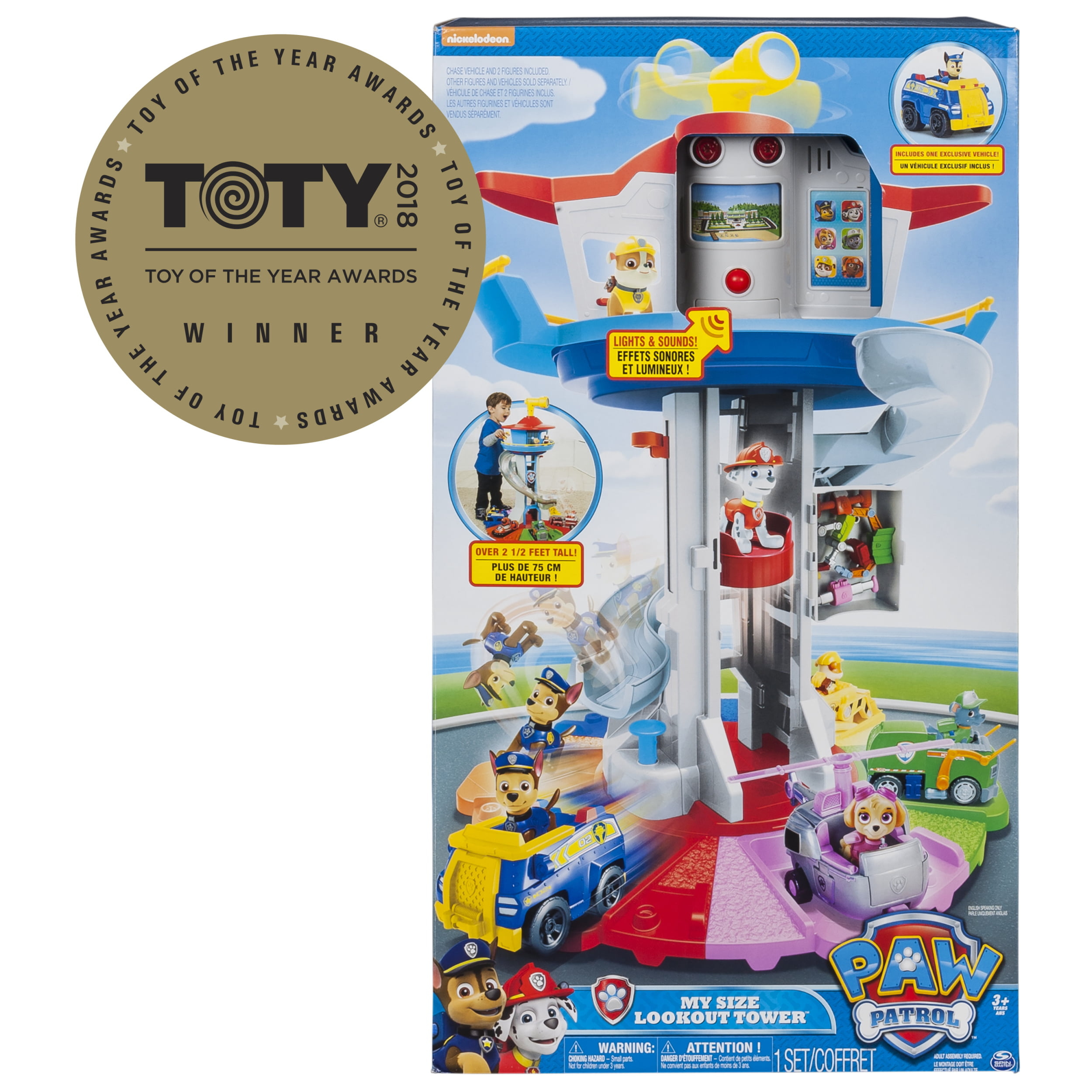Paw Patrol - My Size Lookout Tower with Exclusive Vehicle, Rotating