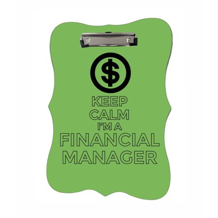 Keep Calm I'm a Financial Manager - Benelux Shaped 2-Sided Hardboard Clipboard - Dry Erase (Best Clipboard Manager 2019)