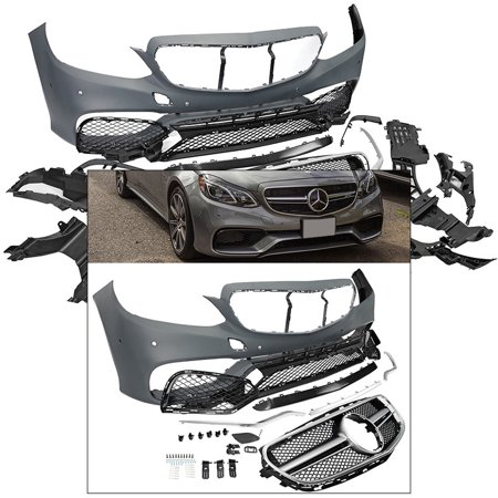 E Class 2014-2016 Sedan Wagon E63 AMG Style Front Bumper Body Kit with Grille