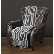 "East End Living 50"" x 60"" Ribbon Knit Throw"