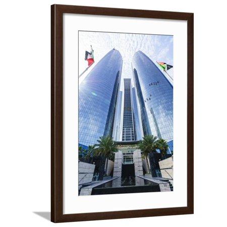 25g Tower (Etihad Towers, Abu Dhabi, United Arab Emirates, Middle East Framed Print Wall Art By Fraser Hall )