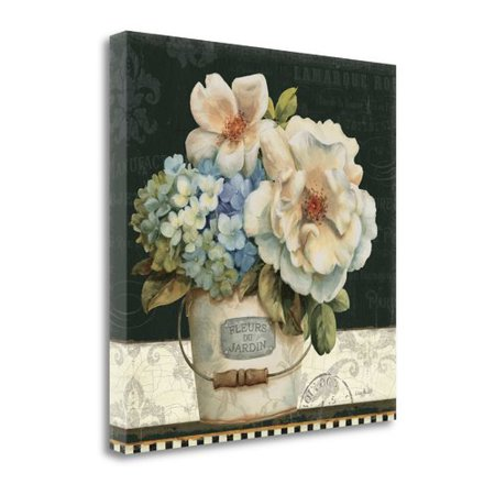 Tangletown Fine Art 'French Vases I' by Lisa Audit Painting Print on Wrapped Canvas (Vase Paintings)