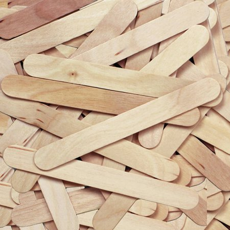 Natural Wood Craft Sticks, Jumbo, 500/Box