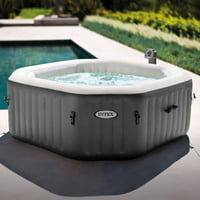 Deals on Intex 120 Bubble Jets 4 Person Octagonal Hot Tub Spa