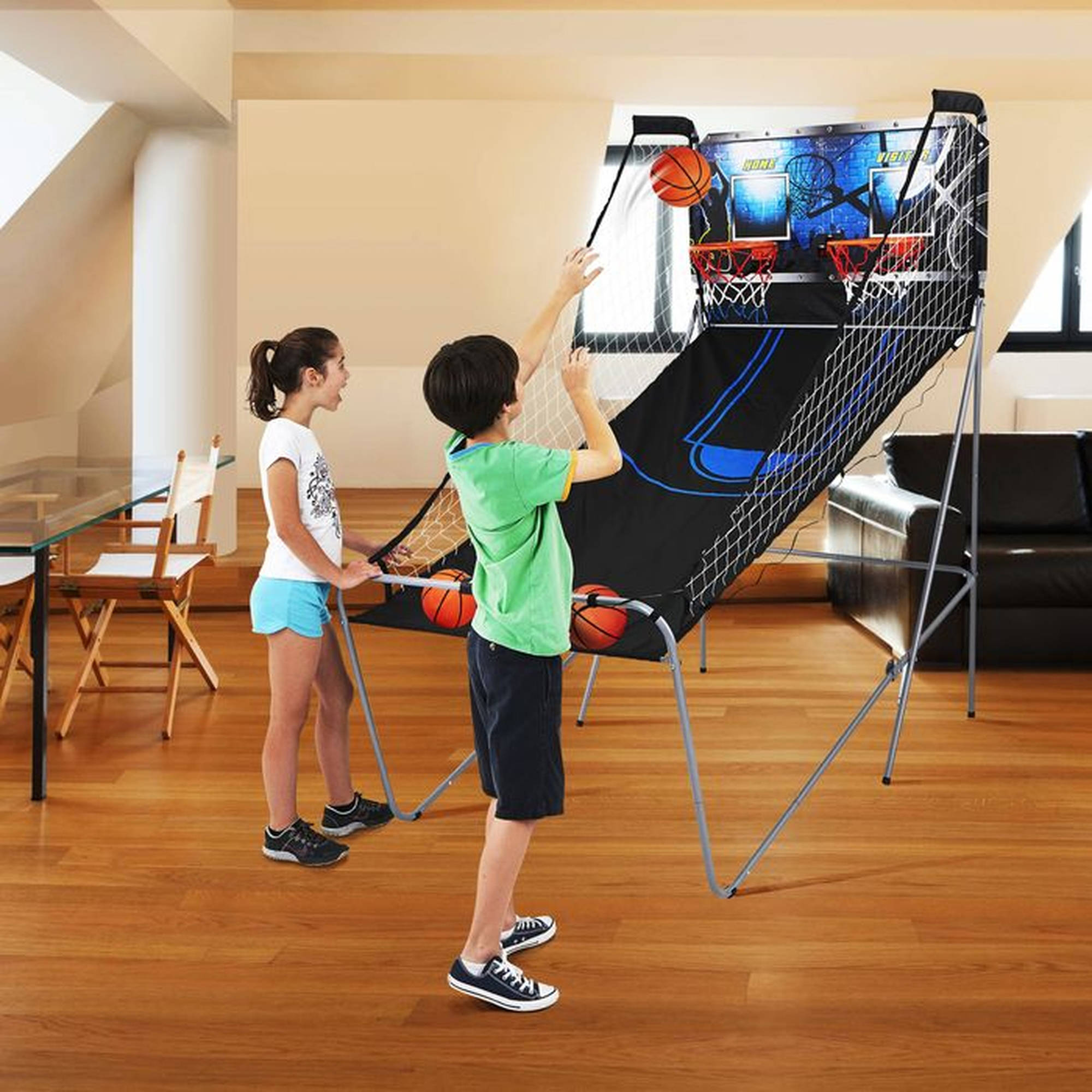 MD Sports 2-Player Arcade Basketball Game with 8 Game Options