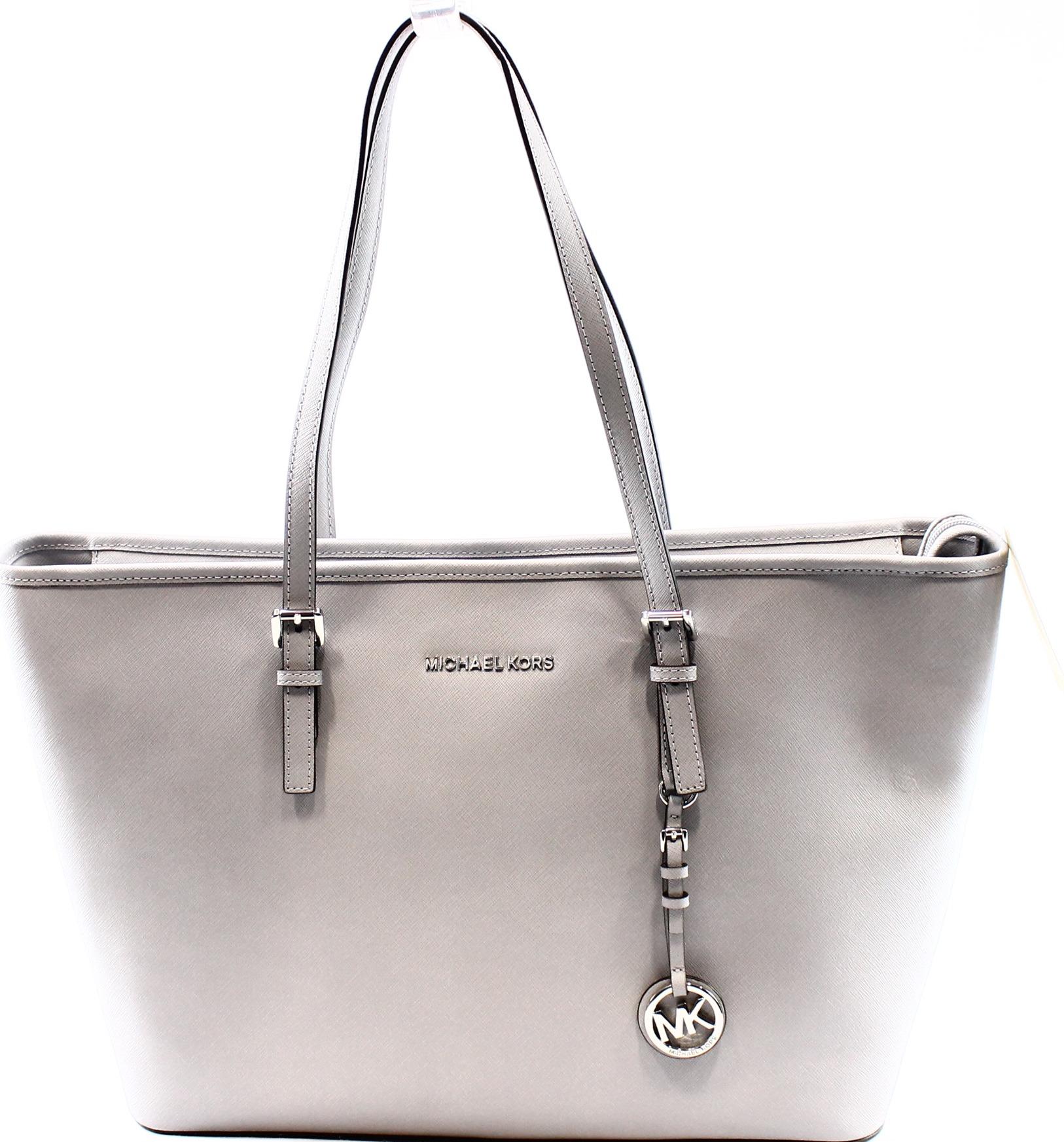 c83dad7211235 Michael Kors - Michael Kors NEW Gray Grey Dove Women s Jet Set Handbag  Purse MK Tote  298 - Walmart.com