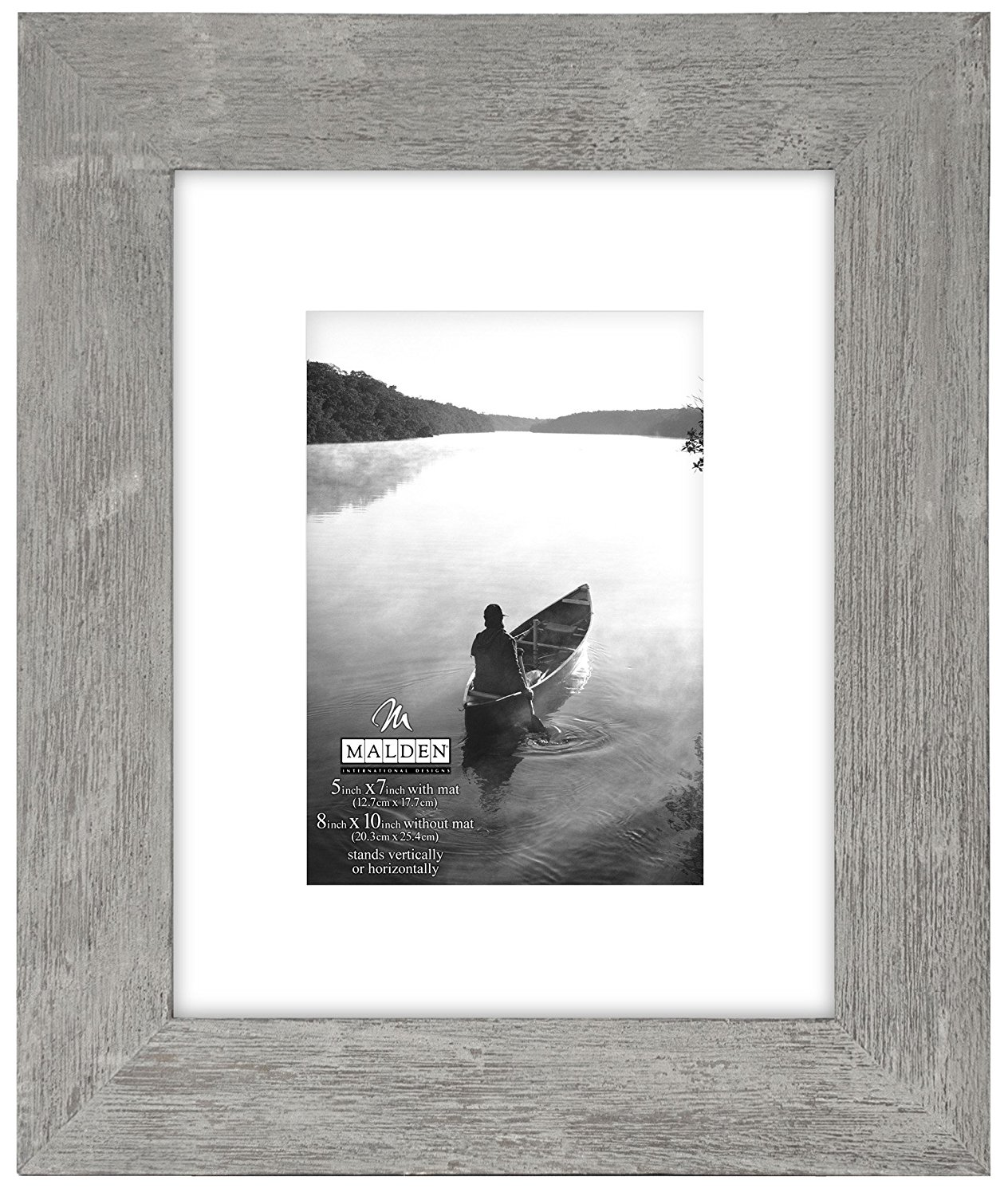 Malden International Designs Manhattan Distressed Mat Picture Frame