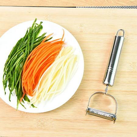 Potato Brush - Stainless Steel Vegetable Fruit Peeler Slicer Carrot Potato Cutter Tool