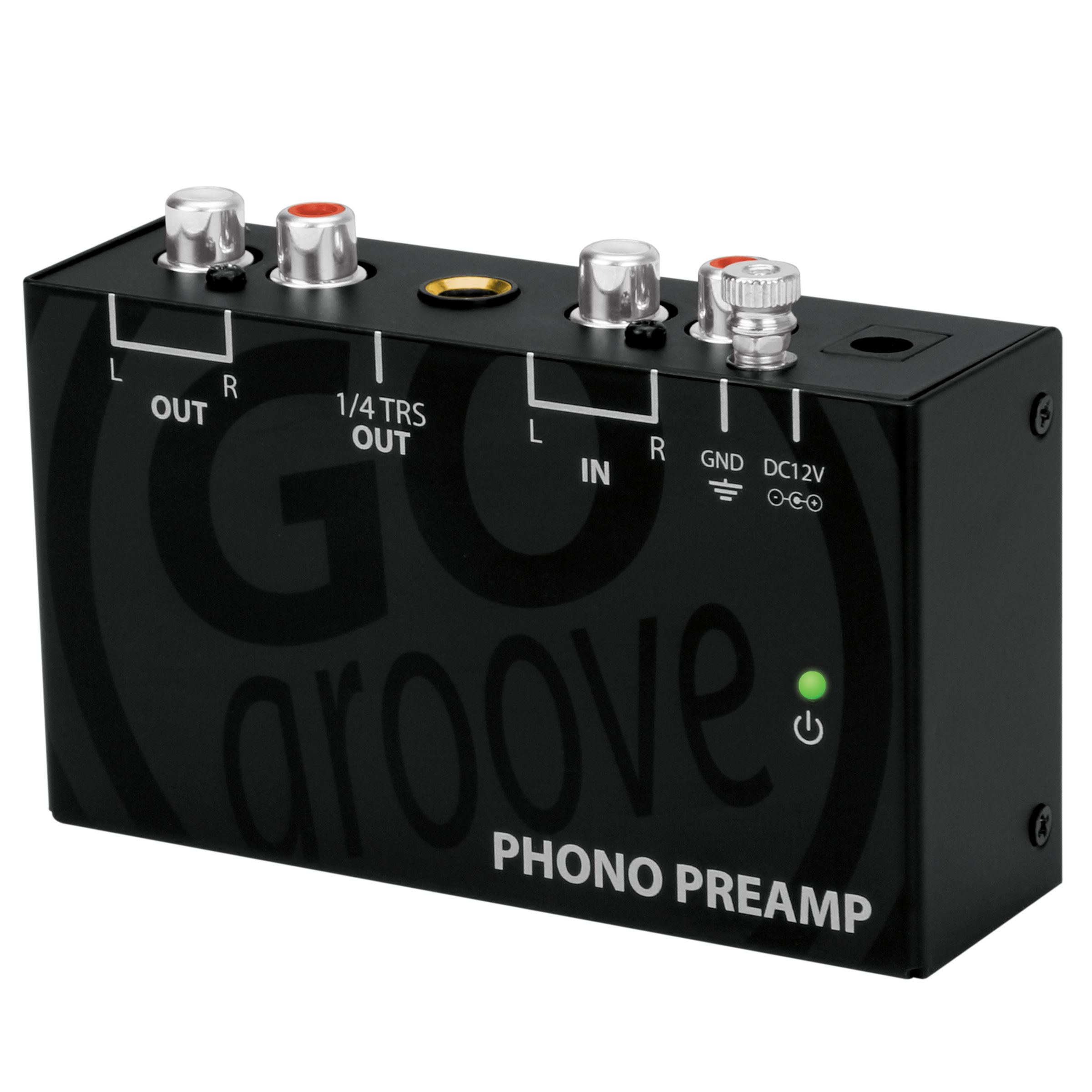 Mini Turntable Phono Preamp For Bookshelf Speakers By GOgroove Preamplifier Connects To AOMAIS Edifier