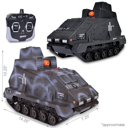 2 Pack Black Ops Airsoft Ignite Seek & Destroy Justice Dealer 2.0 RC Tank w/Gun