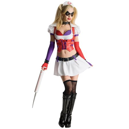Adult Harley Quinn Asylum Nurse Sexy Costume (Nurse Mary Jane Costume)