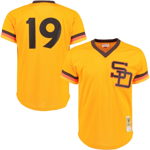 Tony Gwynn San Diego Padres Mitchell & Ness 1982 Authentic Cooperstown Collection Mesh Batting Practice Jersey - Gold