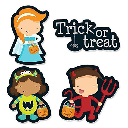 Trick or Treat - DIY Shaped Halloween Party Cut-Outs - 24 Count (Diy Healthy Halloween Treats)
