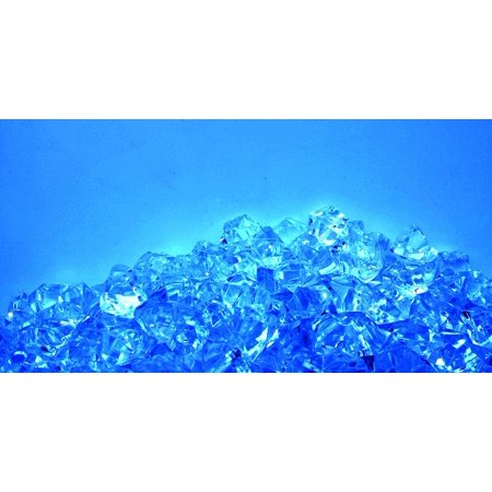 Canvas Print Color Crystal Shiny Blue Shine Bright Diamond Stretched Canvas 10 x