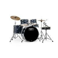 Mapex RB5044FTCYB Rebel 5-Piece Drum Set w/ Hardware & Cymbals - Royal Blue
