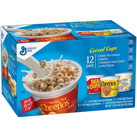General Mills Cereal Cups Assortment, 12 Pack