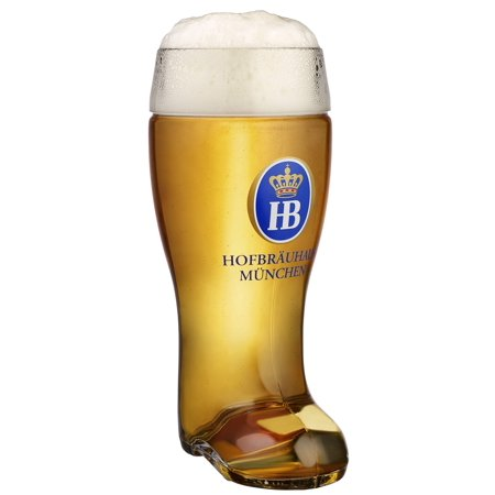 Hofbrauhaus Munich Munchen Glass German Beer Boot 1 L Germany Oktoberfest](Oktoberfest Glasses)