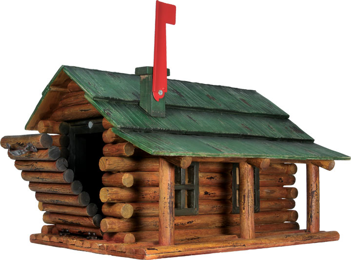 River's Edge Log Cabin Mailbox 054 by River's Edge Products
