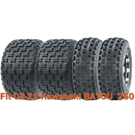 Full Set Sport ATV tires 21x8-9 & 22x10-10 for 03-11 Kawasaki BAYOU