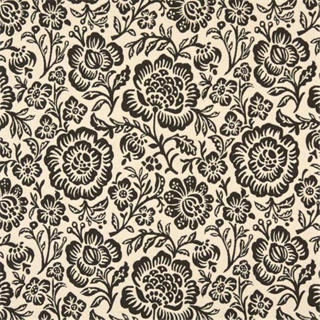 Designer Fabrics F405 54 in. Wide Dark Brown And Beige Floral Matelasse Reversible Upholstery Fabric