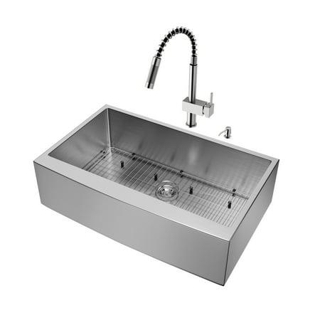 Apron Front Single Basin (Vigo VG15259 36