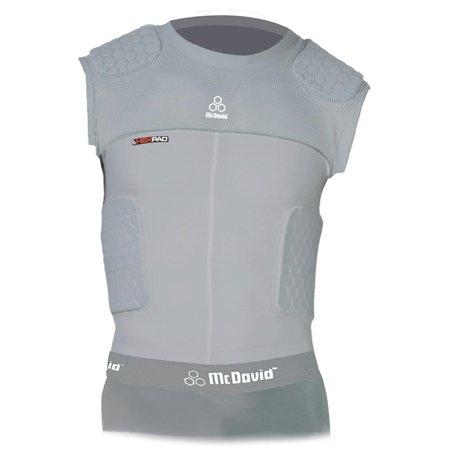 McDavid Classic Logo 7870Y CL Youth Hex Pad Mesh Sleeveless 5 Pad Body Shirt-Grey-Large Mcdavid Body Shirt