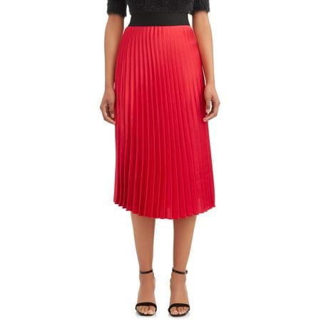 Women's Pleated Skirt Check Pleated Skirt