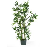 Artificial Bamboo Silk Plant Green