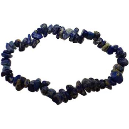 Womens Jewelry Bracelet Blue Lapis Lazuli Gemstone Chips Symbol of Royalty Honor Gods Power Spirit Gemstones Spirit Stone