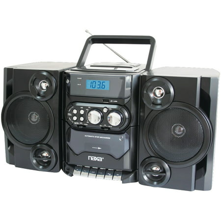 Naxa NPB428 Portable CD/MP3 Player with AM/FM Radio, Detachable Speakers, Remote & USB