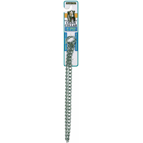"""Petmate Doskocil Co. Inc. Heavyweight Mighty Link Chain Collar, 26"""" x 3mm"""