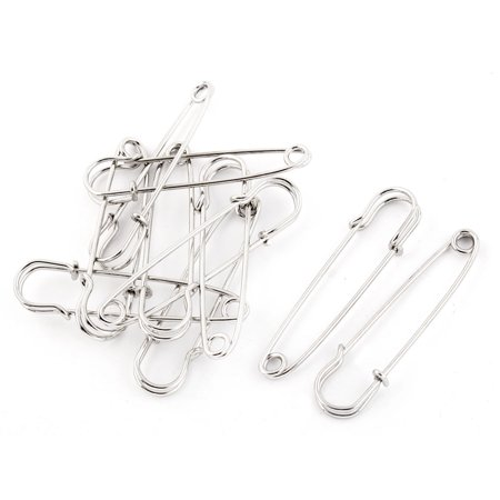Skirts Kilts Crafts Fastening  Pin Brooches Silver Tone 6.5cm Length 10pcs](Halloween Pins Craft)