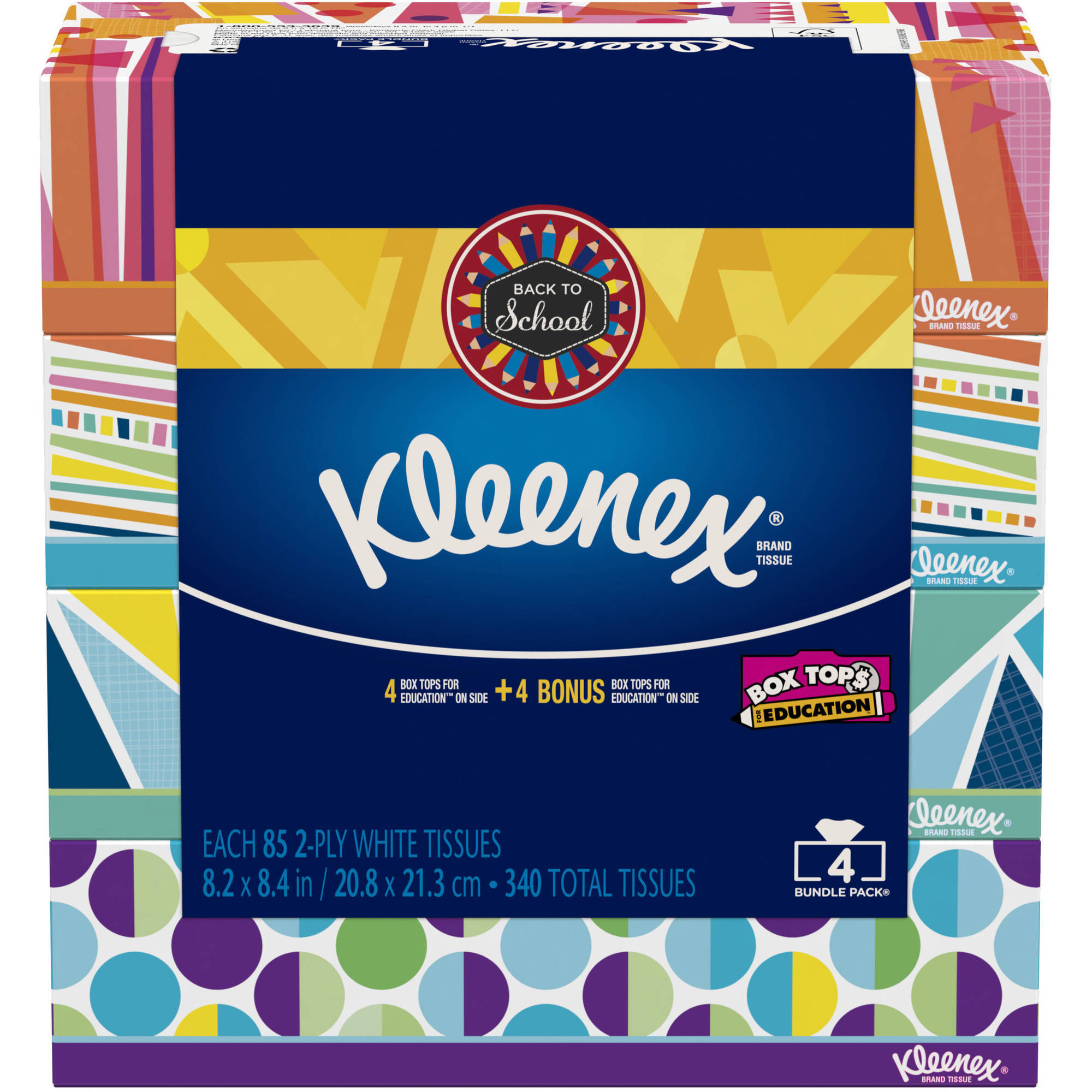 Kleenex Everyday Facial Tissues, 85 sheets, 4 count