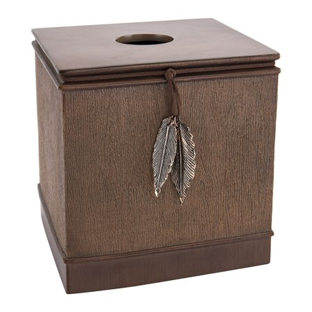 Allure Home Creations Resin 6 Inch Woodland Charms Tissue - Woodland Tissue Box Cover