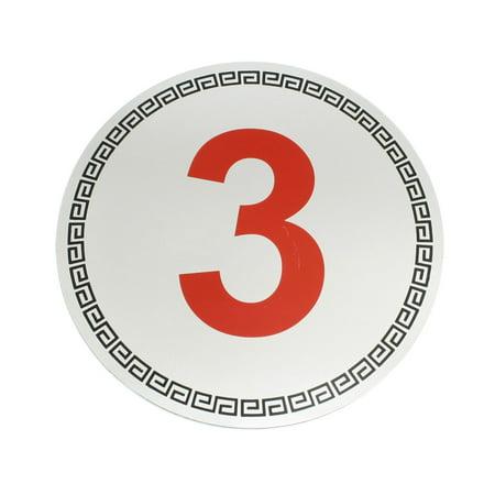 Number 3 Sign Hotel Door Parking Place Plastic Symbol Ornament Sticker - Number Symbol