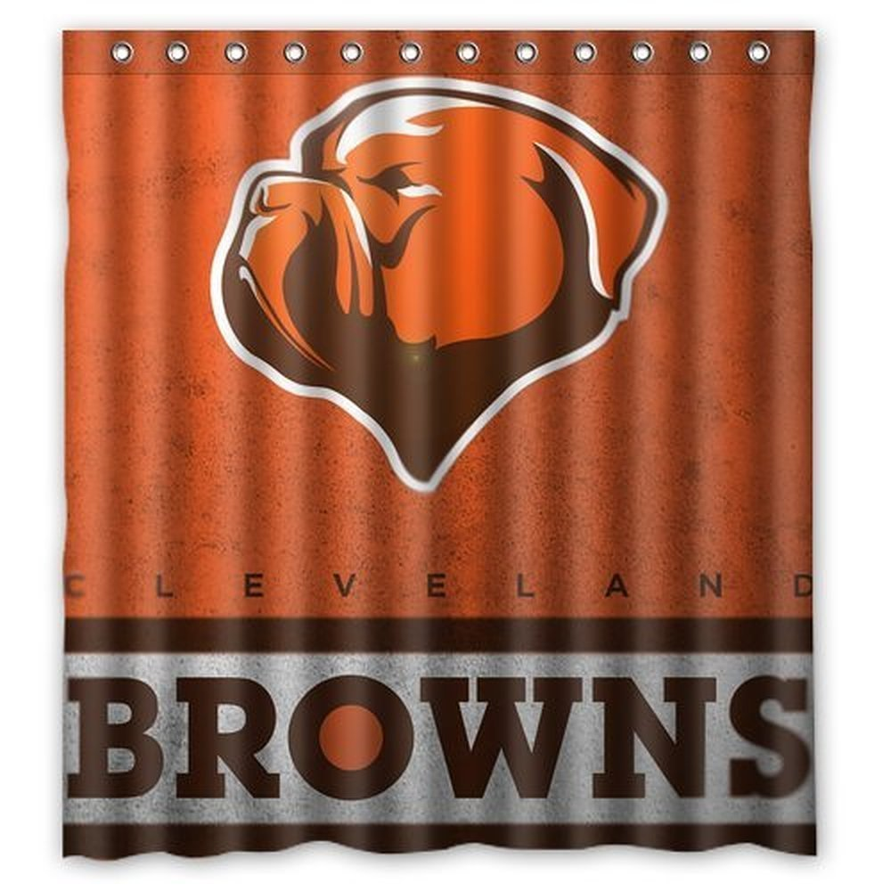 DEYOU Cleveland Browns Cool Design Shower Curtain Polyester Fabric Bathroom Shower Curtain Size 66x72 inches