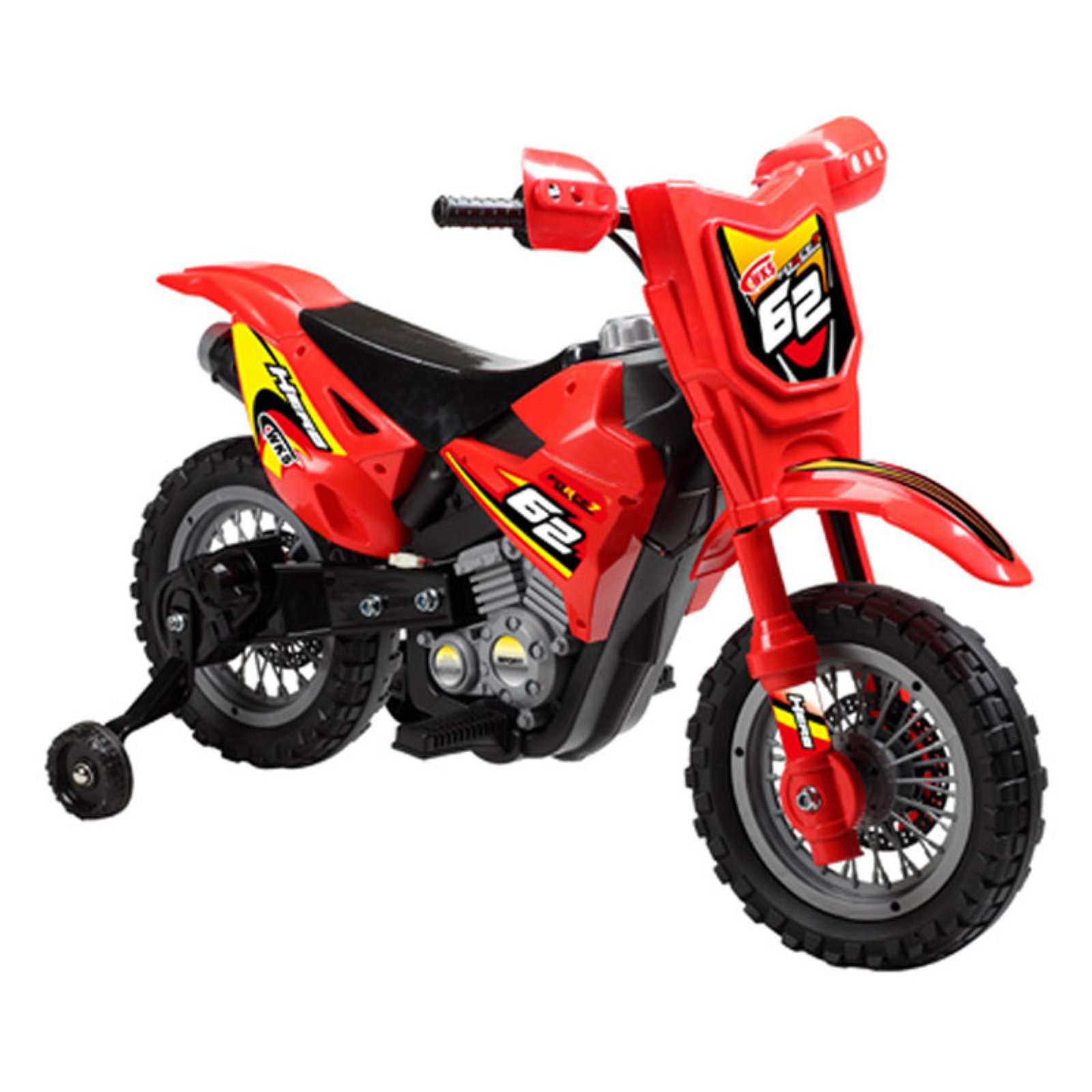 Mini Motos Dirt Bike Motorcycle Battery Powered Riding Toy Red by Digital Complex Inc