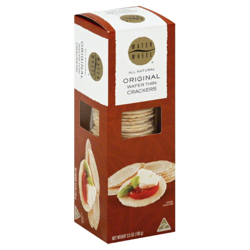 Waterwheel Original Wafer Thin Crackers, 3.5 Oz (Pack of 12)