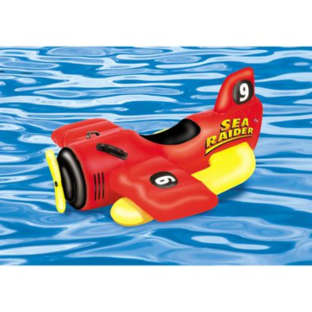 42 Water Sports Inflatable Ride On Sea Plane Swimming Pool Float Toy