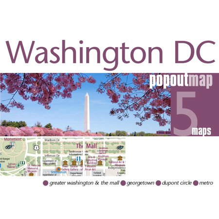Washington DC Popout Map - Firefly Washington Dc