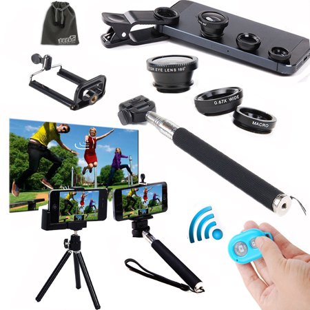 eeekit remote shutter selfie stick mini tripod lens for smartphone iphone x 8 7 6 6s plus. Black Bedroom Furniture Sets. Home Design Ideas