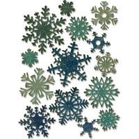 Sizzix Thinlits Dies By Tim Holtz 14/Pkg Mini Paper Snowflakes