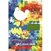 Woodstock Tye Dye Poster - 24x36